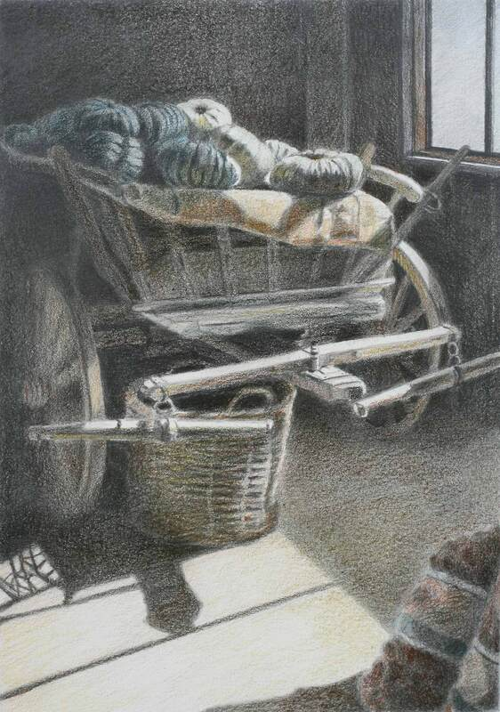 "Jan Lawnikanis, Colour Pencil ""The Ol'Days"""
